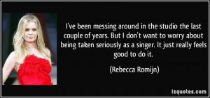 More Rebecca Romijn Quotes