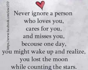 Ignoring people