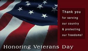 Honoring Veterans Day Ecard