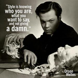 Orson Welles tells it like it is.