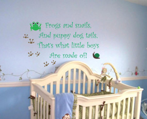 Bedroom, Nursery Wall Decals Word Quotes With Green And Blue Interior ...