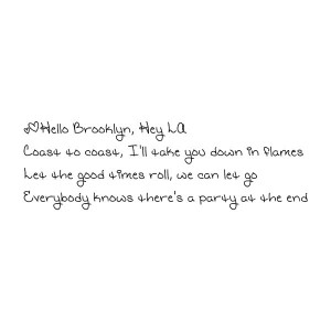 Hello Brooklyn All Time Low Lyrics Quote liked on Polyvore