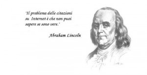 Abramo Lincoln sulle citazioni in internet