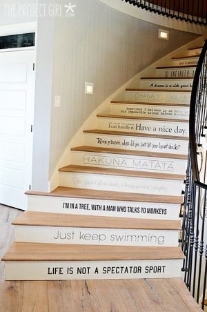 Stair Quotes, Stair Decoration Quoted, Much Disney Quotes ...