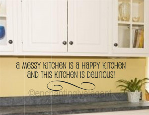... -Is-A-Happy-Kitchen-Vinyl-Decal-Wall-Sticker-Words-Letters-Quote