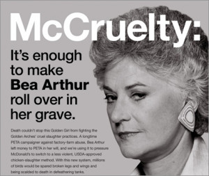 Bea Arthur appears in posthumous PETA ad By Adweek Blogs