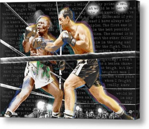 Rocky Marciano V Jersey Joe Walcott Quotes on Stretched Canvas