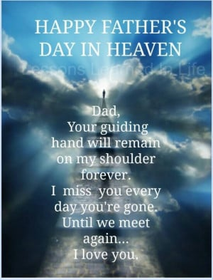 Happy Father's Day in Heaven