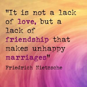... unhappy marriages: Friedrich Nietzsche (via GetYourPerfectHusband.com