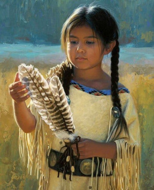 Little Native American GirlNative American Art, Inspiration, American ...