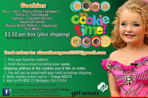 Honey Boo Boo hawking Girl Scout cookies to her hundreds of thousands ...