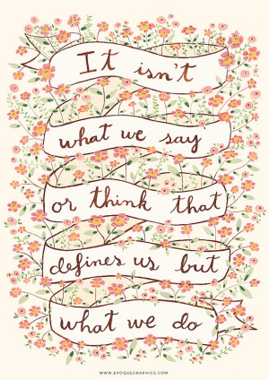 Sense and sensibility quote art print