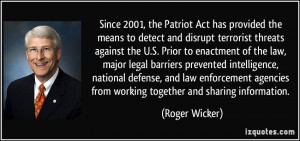 Quotes About the Patriot Act