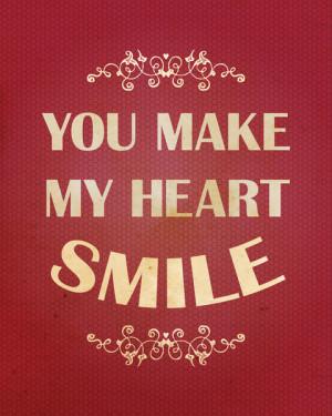 You make my heart smile Art Print