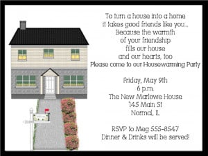 Shop our Store > New House Housewarming Party Invitations