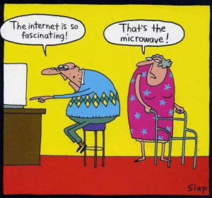 Funny Old Man Internet Microwave Cartoon | The internet is so ...