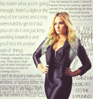 Demi Lovato Inspirational quotes