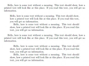 ... paragraph indentation of normal text (e.g. done with setlength