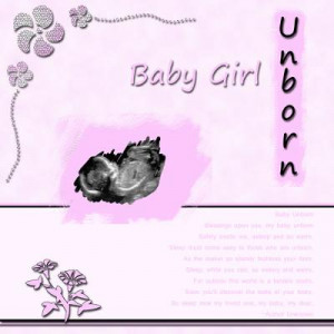 used this ultrasound poem on my scrapbook page. I thought others ...