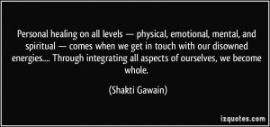Personal healing on all levels — physical, emotional, mental, and ...