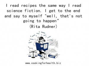 Quote about following recipes