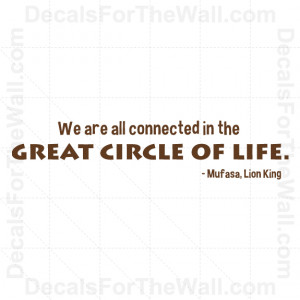 ... -Mufasa-Circle-of-Life-Disney-Wall-Decal-Vinyl-Art-Sticker-Quote-G04