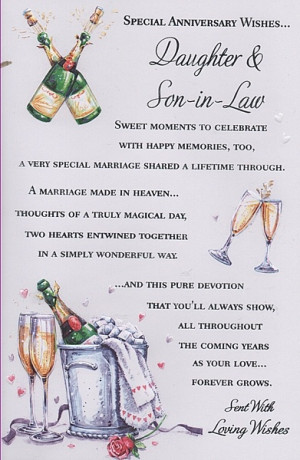 law special anniversary wishes anniversary cards daughter son in law ...