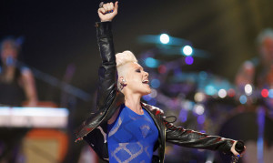 singer Pink performs during second day of the 2012 iHeartRadio ...
