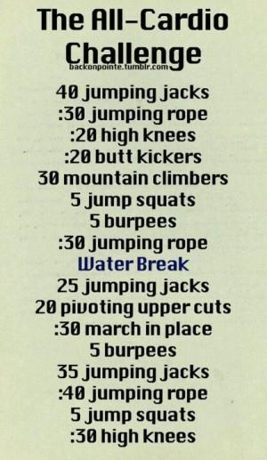 The ultimate cardio challenge