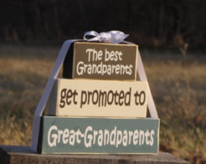 Great Grandparents Quotes Great grandparents wood block