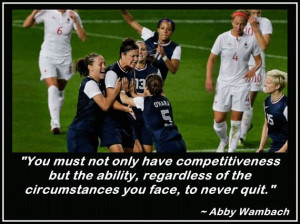 Abby Wambach Olympic Soccer Photo Quote Wall by ArleyArtEmporium, $15 ...