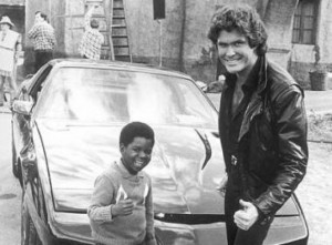 Here he is circa 1983 with David Hasselhoff on the set of Knight Rider ...