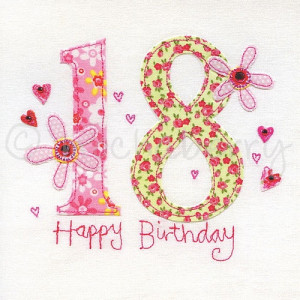 18th birthday card 18th greeting card eighteenth birthday card