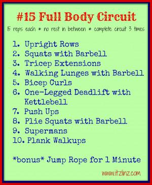 15 Full Body Circuit Workout