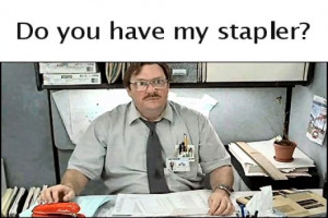 ... of where you can get a new Red Swingline Stapler. Hint: see below