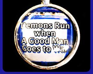 Doctor Who TARDIS pendant, quote,