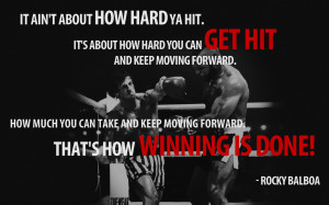 """Sylvester Stallone: Tweet: """"#It ain't about how hard a hit you can ..."""