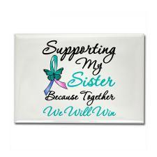 Thyroid Cancer Sister Rectangle Magnet for