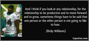 if you look at any relationship, for the relationship to be productive ...