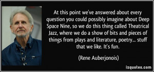 about every question you could possibly imagine about Deep Space ...