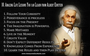 10 Lessons from Albert Einstein-