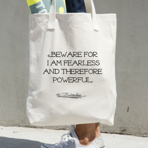 Frankenstein Tote - Book Bag - Mary Shelley Quote - Thumbnail 1