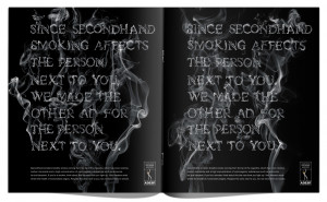 ... the graphics effects. ADESF Secondhand smoking: Person next to you