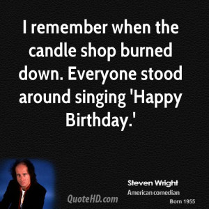 Steven Wright Birthday Quotes