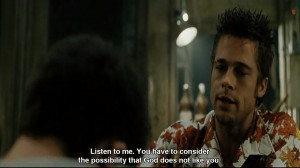 brad pitt, fight club, movie quotes
