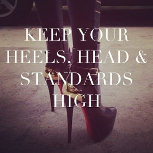 Keep Your Heels, Head and Standards High Pinning made easy! http://www ...