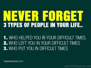 Never Forget 3 Types Of People In Your Life.