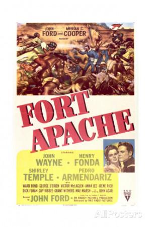 Fort Apache - Movie Poster Reproduction Impressão artística