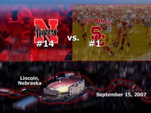Nebraska vs USC wallpaper Background