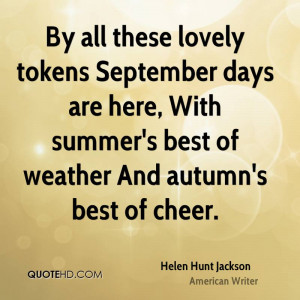 Helen Hunt Jackson Quotes